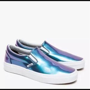 Vans Iridescent Patent Slip-on Shoes Blue/Purple